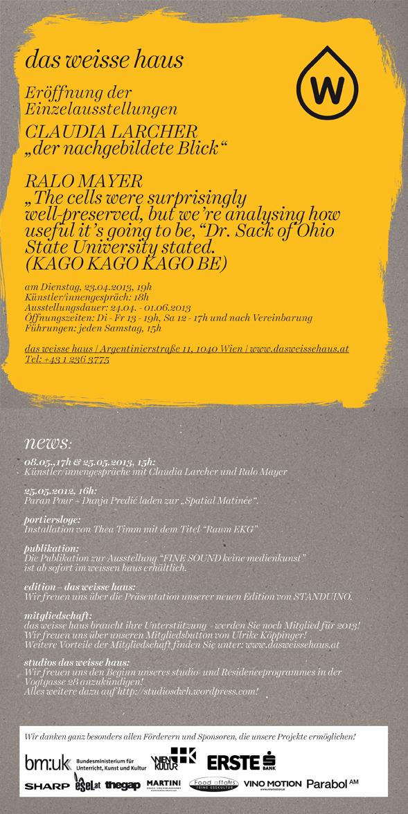 Einladungskarte 04:2013_ dasweissehaus